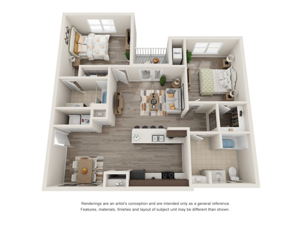 Patriot Pointe 2 Bedroom Floorplan